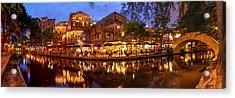 Panorama Of San Antonio Riverwalk At Dusk - Texas Acrylic Print