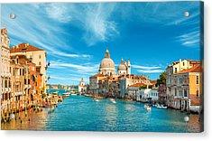 Panorama Of The Basilica Santa Maria Della Salute Acrylic Print
