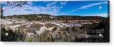 Panorama Of The Mighty Pedernales River In The Fall Season - Johnson City Texas Hill Country Acrylic Print by Silvio Ligutti