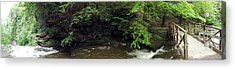 Panorama Of Wolf Creek At Letchworth State Park Acrylic Print by Rose Santuci-Sofranko