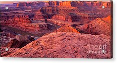 Acrylic Print featuring the photograph Panorama Sunrise At Dead Horse Point Utah by Dave Welling