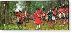 Panoramic Battle Of Bushy Run Acrylic Print by Randy Steele