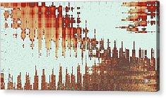 Panoramic City Reflection Acrylic Print by Ben and Raisa Gertsberg