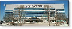 Panoramic Of Delta Center Building Acrylic Print by Panoramic Images