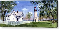 Panoramic Of Marblehead Acrylic Print by Terri  Meyer