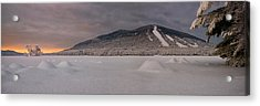 Panoramic Of Shawnee Peak And Moose Pond Acrylic Print