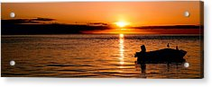 Panoramic Photo Of Sunrise At Monkey Mia Of Australia Acrylic Print