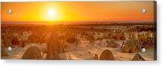Panoramic Photo Of Sunset At The Pinnacles Acrylic Print