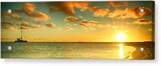 Panoramic Photo Sunrise At Monky Mia Acrylic Print