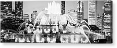 Panoramic Picture Of Chicago Buckingham Fountain  Acrylic Print
