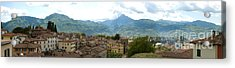 Panoramic View Barga And Apennines Italy Acrylic Print