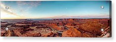 Panoramic View Of Canyon And River At Acrylic Print
