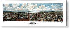 Panoramic View Of Milwaukee Wisconsin Acrylic Print by War Is Hell Store
