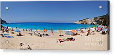Panoramic View Of Porto Katsiki Beach Acrylic Print
