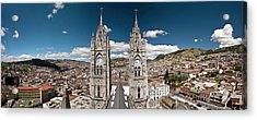 Panoramic View Of The Bell Towers Acrylic Print