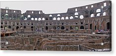 Panoramic View Of The Colosseum Acrylic Print by Allan Levin