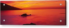 Panoramic View Of The Sea At Dusk, Leo Acrylic Print by Panoramic Images