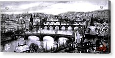 Panoramic View To Prague Acrylic Print by Dmitry Koptevskiy