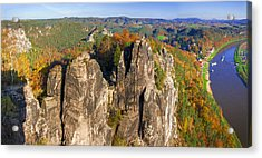 Panoramic Views Of Neurathen Castle Acrylic Print