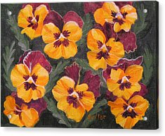 Pansies Are For Thoughts Acrylic Print