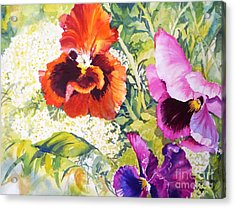 Pansies Delight #2 Acrylic Print