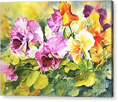 Pansies Delight #3 Acrylic Print