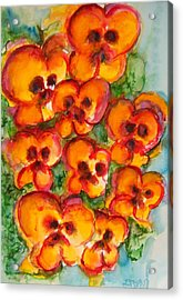 Pansies Love Us Acrylic Print