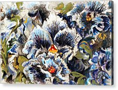 Pansy Patterns Acrylic Print