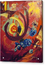 Acrylic Print featuring the painting Pansymania by Donna Tuten