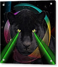 Panther Acrylic Print by Mark Ashkenazi