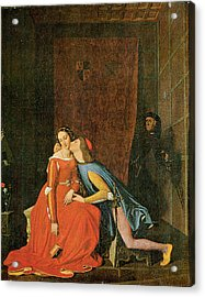 Paolo And Francesca Acrylic Print by Jean-Auguste-Dominique Ingres
