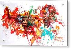 Paolo Fresu Acrylic Print by Massimo Chioccia and Olga Tsarkova