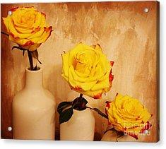 Papa Mama Baby Roses Acrylic Print by Marsha Heiken