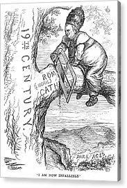 Papal-infallibility Cartoon Acrylic Print by Granger