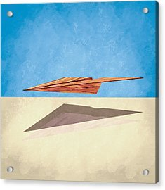 Paper Airplanes Of Wood 14 Acrylic Print
