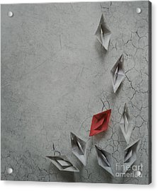 Paper Boats Acrylic Print