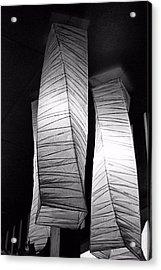 Paper Lampshades Acrylic Print by Bob Wall