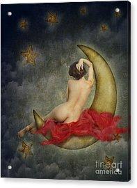 Paper Moon Acrylic Print by Jelena Jovanovic