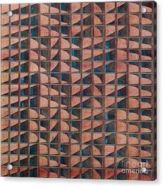 Paper Relief Acrylic Print by Jan Willem Van Swigchem