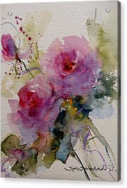 Paper Roses Acrylic Print