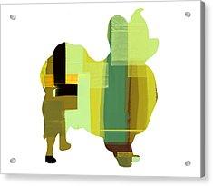 Papillion Acrylic Print by Naxart Studio