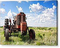 Pappa's Tractor Acrylic Print