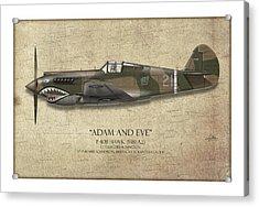 Pappy Boyington P-40 Warhawk - Map Background Acrylic Print by Craig Tinder