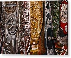 Papua New Guinea Masks Acrylic Print