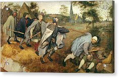Parable Of The Blind, 1568 Tempera On Canvas Acrylic Print