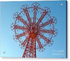 Acrylic Print featuring the photograph Parachute Jump-coney Island by Ed Weidman