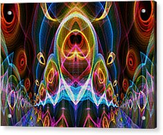 Acrylic Print featuring the digital art Parade Down Main Street by Owlspook