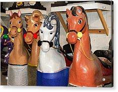 Parade Horses Acrylic Print by Cheryl Cencich