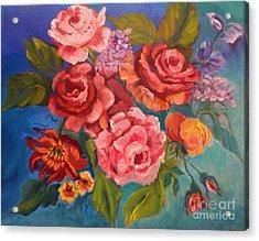 Parade Of Roses 11 Acrylic Print