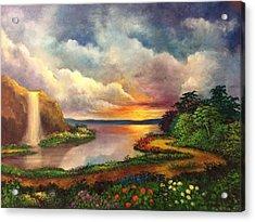 Paradise And Beyond Acrylic Print